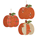 FALL BURLAP PUMPKIN WALL HANGING SET