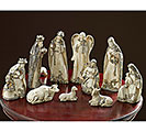 10 PIECE HAND-PAINTED RESIN NATIVITY
