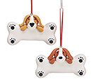 CLAY DOUGH DOG AND BONE ORNAMENT SET
