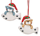 CLAY DOUGH CAT ORNAMENT SET