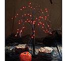 LED BLACK HALLOWEEN TREE W/ ORANGE LIGHT