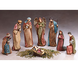 NATIVITY 8 PC RESIN