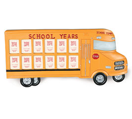 SCHOOL BUS SHAPED PICTURE FRAME