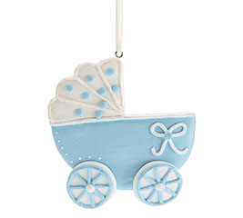 BLUE CARRIAGE ORNAMENT