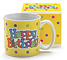 YELLOW HAPPY BIRTHDAY MUG W/ BOX