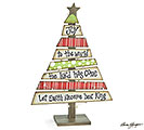 HANDPAINTED WOOD PLANK CHRISTMAS TREE