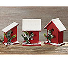 WOOD BIRDHOUSE DECOR ASSORTMENT