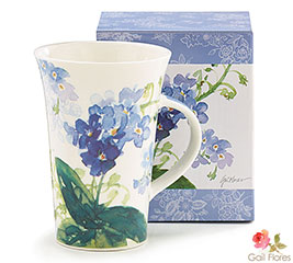 FORGET ME NOT FLOWER CERAMIC MUG W/ BOX