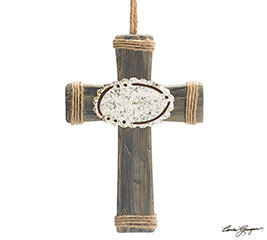 ORNAMENT WOOD CROSS
