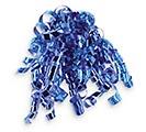 "1/4"" BLUE METALLIC RIBBON SWIRLS"