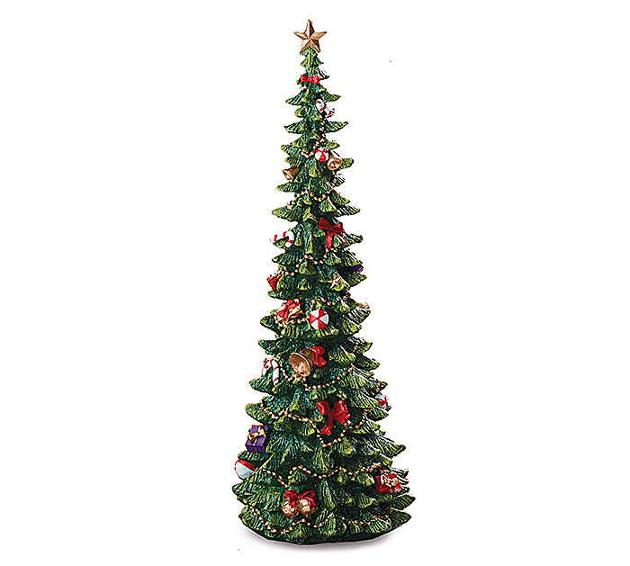 "16"" DECORATED RESIN CHRISTMAS TREE"