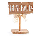 RESERVED SIGN TABLETOP DECOR