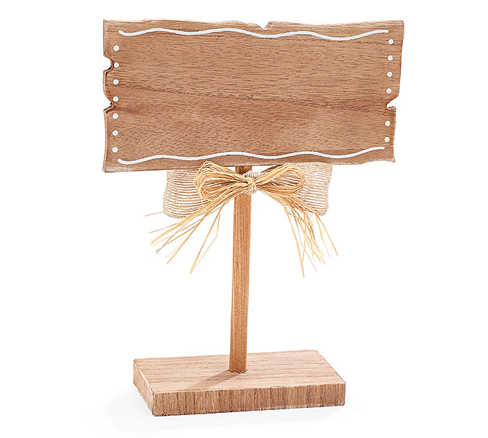 BLANK NATURAL WOOD TABLETOP SIGN