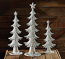 DECOR SILVER TREES