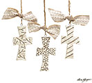 ORNAMENT CERAMIC CROSSES