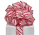 #9 PEPPERMINT SWIRLS WIRED RIBBON