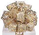 #9 GOLD HOLLY SHEER WIRED RIBBON