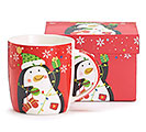 RED PENGUIN MUG WITH BOX