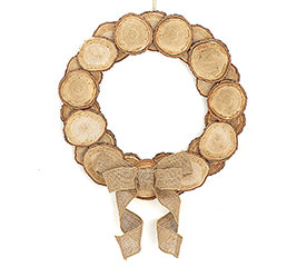 WOOD DISC WREATH