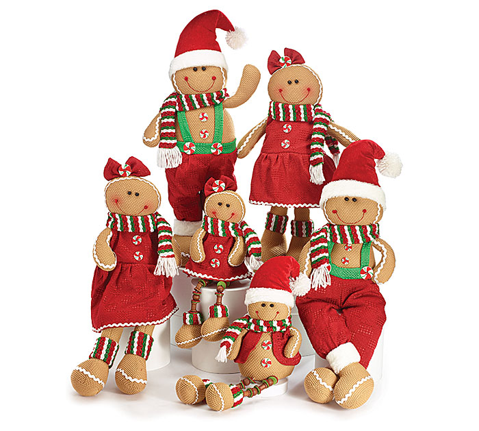 6 PIECE GINGERBREAD FAMILY