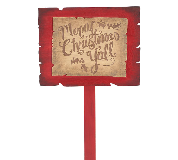 MERRY CHRISTMAS Y'ALL YARD STAKE