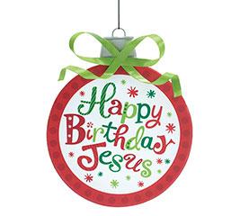 LARGE HAPPY BIRTHDAY JESUS ORNAMENT