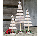 WOOD SLAT TREE DECOR