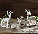 WHITE DEER FIGURINE