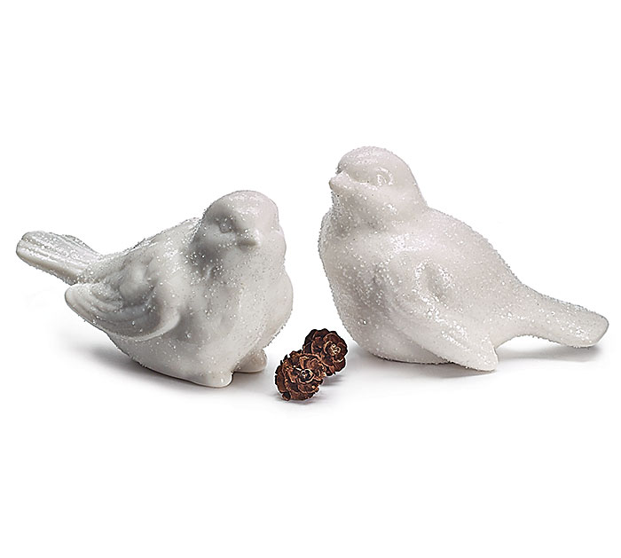 WHITE BIRD FIGURINE