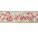 #40 LET IT SNOW LINEN WIRED RIBBON 1st Alternate Image