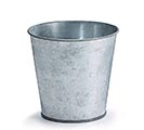 "4"" GALVANIZED TIN POT COVER"