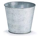 "6"" GALVANIZED TIN POT COVER"