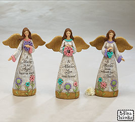 MOTHER'S DAY GARDEN ANGEL FIGURINE SET