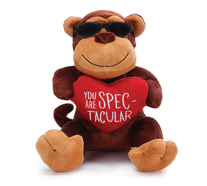 CASE PACK PLUSH MONKEY WITH SUNGLASSES