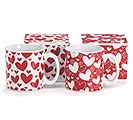 RED OR WHITE VALENTINE MUG WITH HEARTS