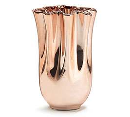 COPPER HANDKERCHIEF CERAMIC VASE