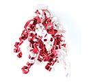 """1/4"""" RED/WHITE RIBBON SWIRLS"""