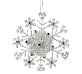 ORNAMENT 3D SNOWFLAKE TIN