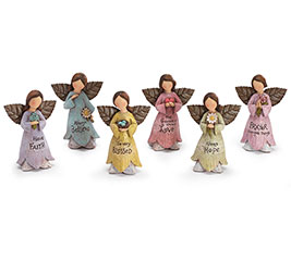 SPRING FAIRY ANGEL/MESSAGES FIGURINE SET