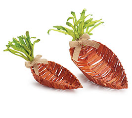 BASKET CARROT SHAPE  NESTED