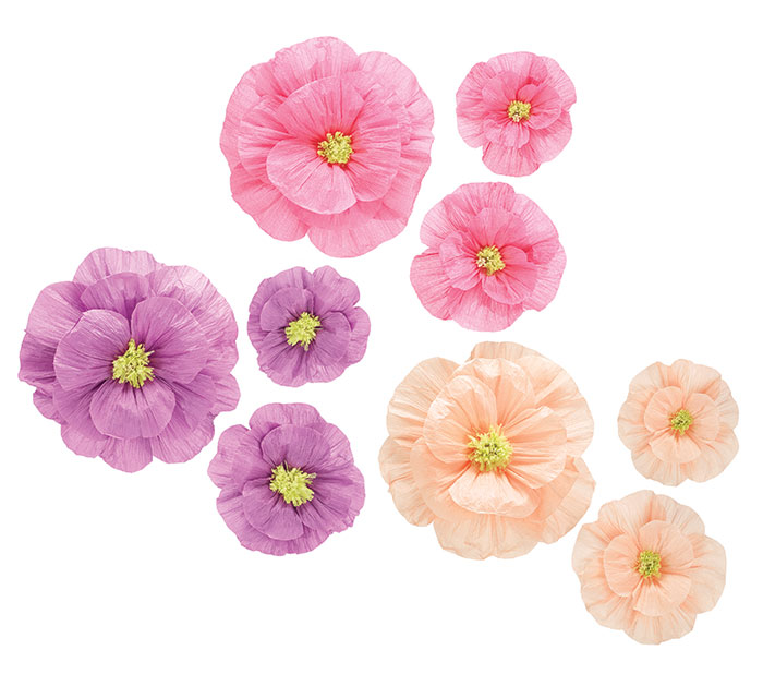 Hanging paper flower assortment mightylinksfo