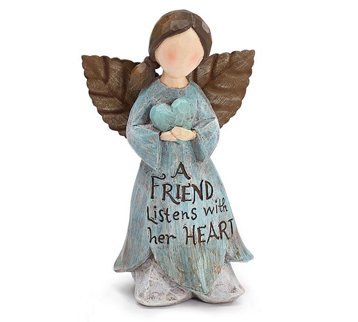 A FRIEND LISTENS FAIRY ANGEL FIGURINE