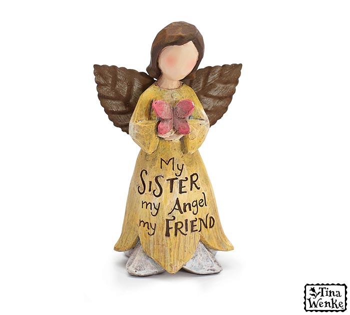 SISTER FAIRY ANGEL RESIN FIGURINE