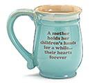 MINT GREEN MOM/MESSAGE PORCELAIN MUG 1st Alternate Image