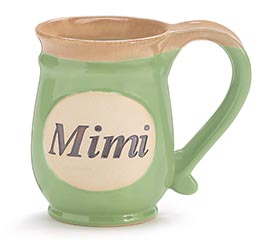 MINT GREEN MIMI/MESSAGE PORCELAIN MUG