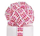 #9 PINK/RED HEARTS SATIN WIRED RIBBON