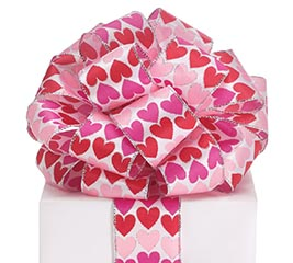 #40 VALENTINE HEARTS SATIN WIRED RIBBON