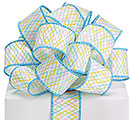 #9 RIBBON SPRING COLOR DIAMOND PATTERN