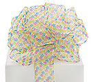 #9 SHEER TINY SPRING FLOWER WIRED RIBBON