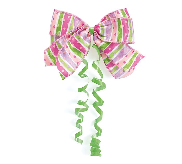 #9 LIL BABY PINK DOT BOW